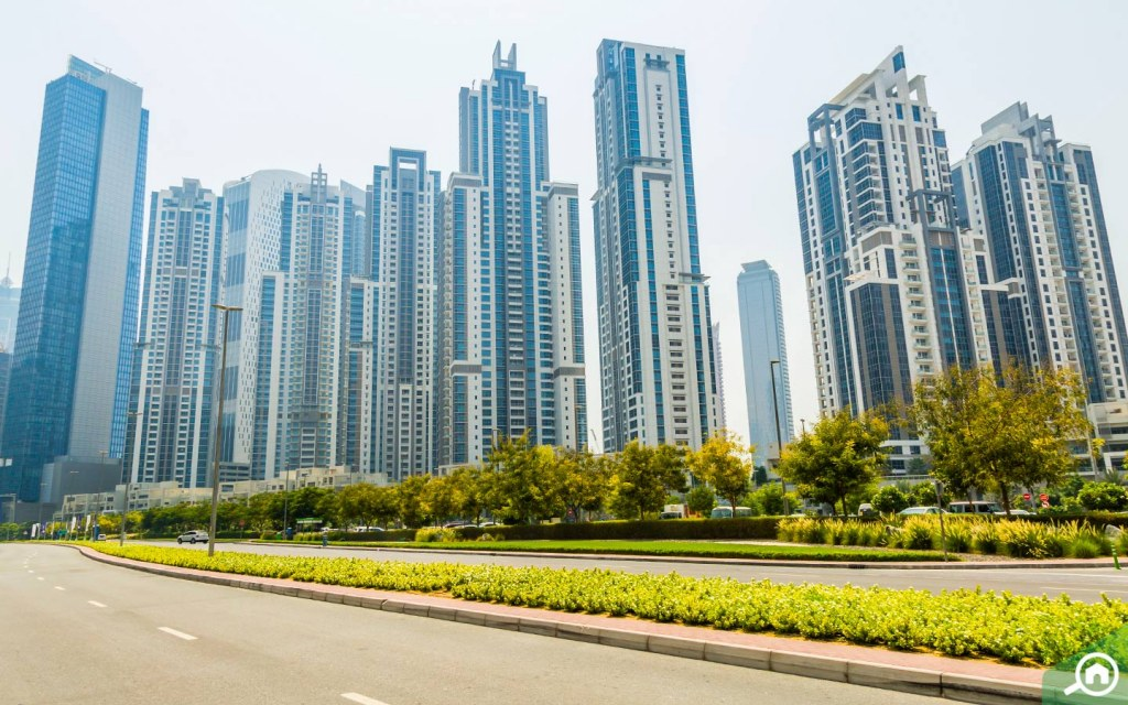 A view of Executive Towers, Business Bay.