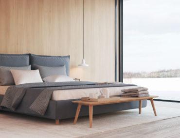 غرفة نوم مع إطلالاة بحرية