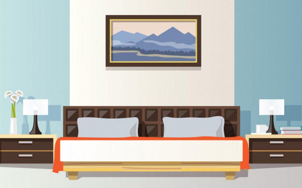 سرير منظم على طريقة فينغ شوي