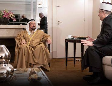 الشيخ سلطان القاسمي وأمين مجمع اللغة العربية