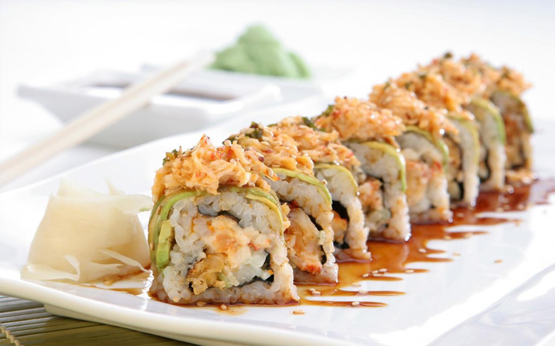 طبق سوشي ياباني