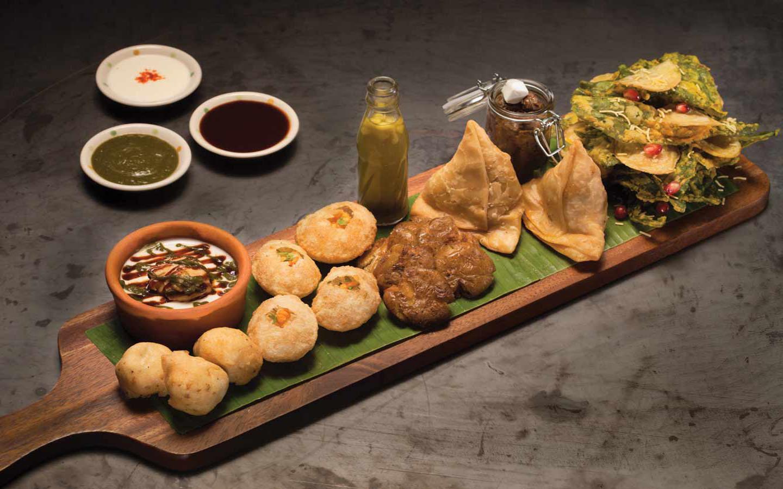 chaat platter served at Peppermill restaurant