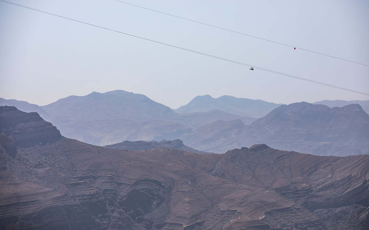 World's longest zip line at Jebel Jais, Ras Al Khaimah