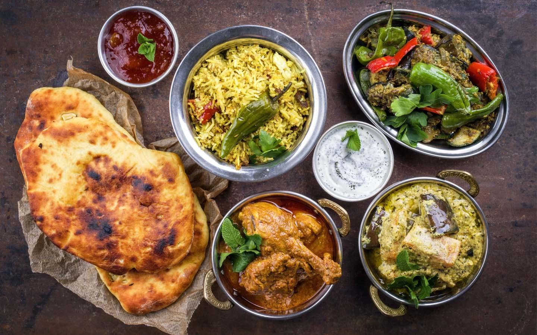 Assorted Indian food at Zafran in Dubai Marina Mall.