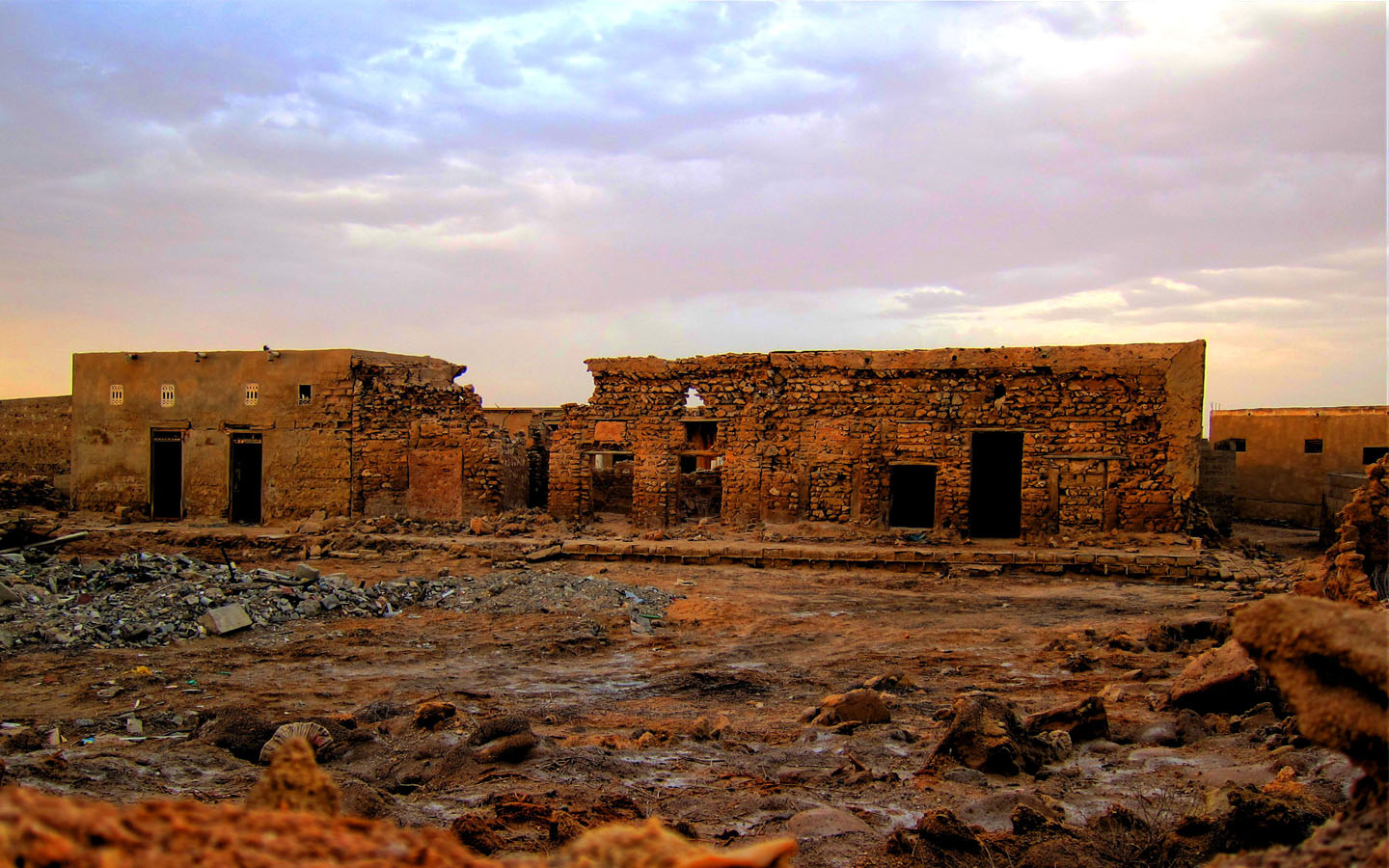 The ruins of Jazairat Al Hamra, Ras Al Khaimah