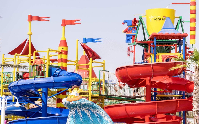 Rides at Legoland water park