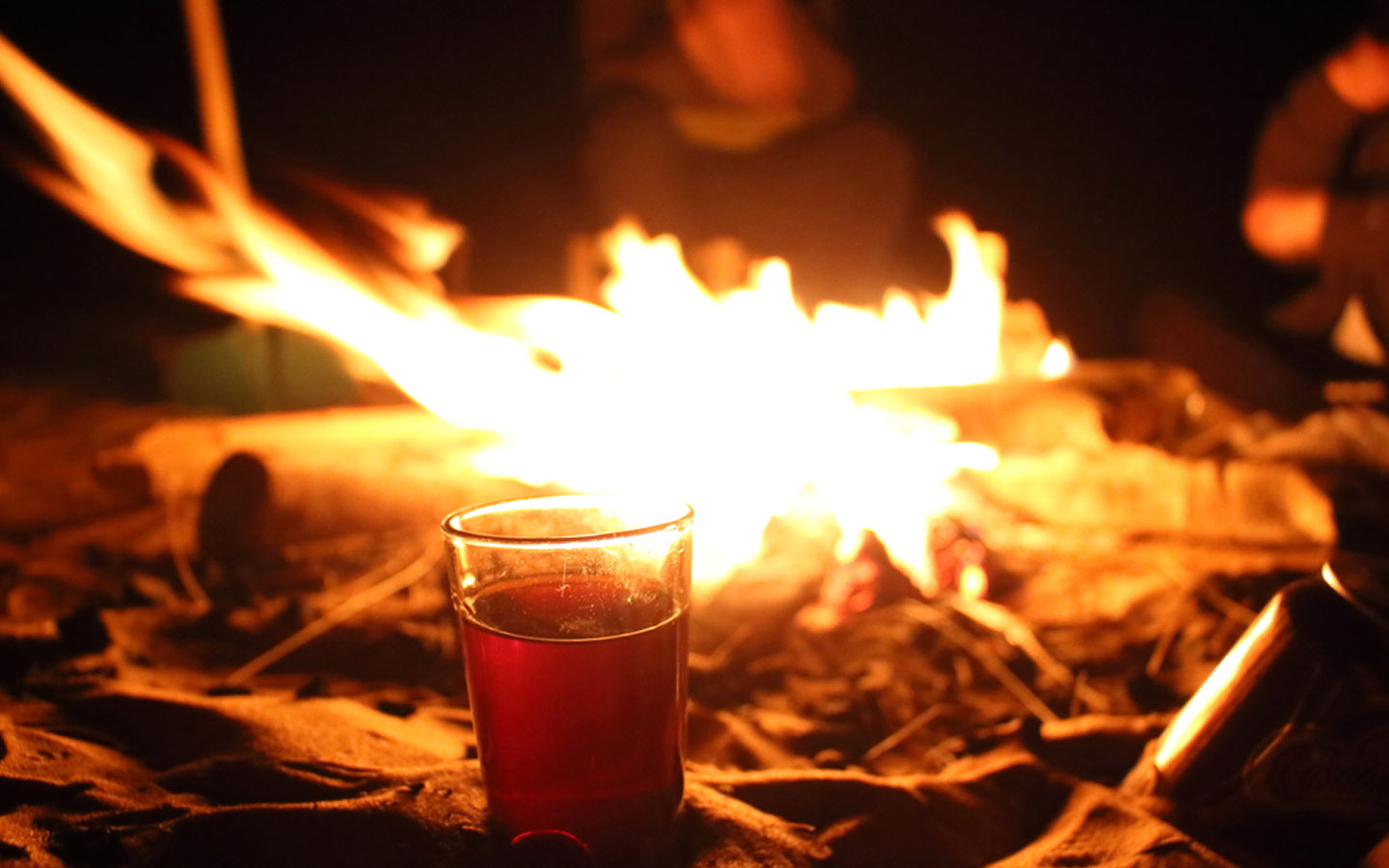 making and using firewood during camping