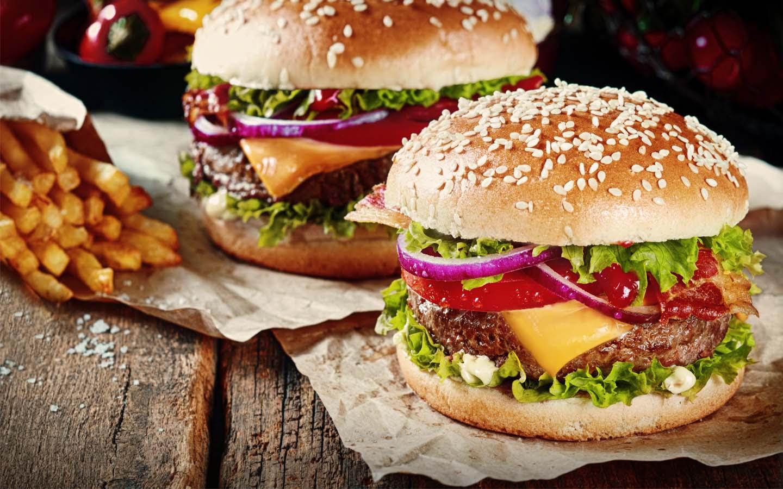 Five Guys' burger meals in Dubai Marina Mall.