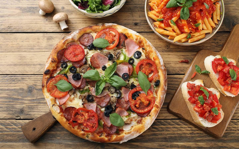 Carluccio's authentic Italian food in Dubai Marina Mall.