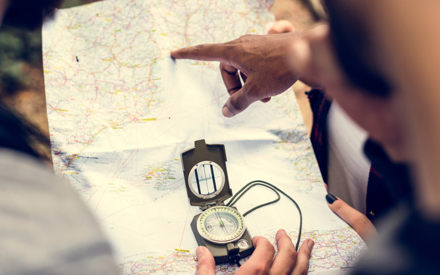 Keep a map for directions while desert camping in the UAE