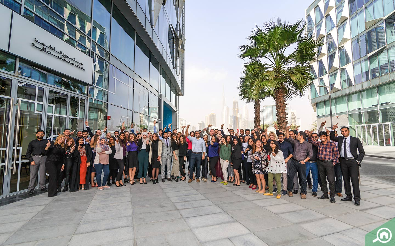 Bayut team in Dubai Design District