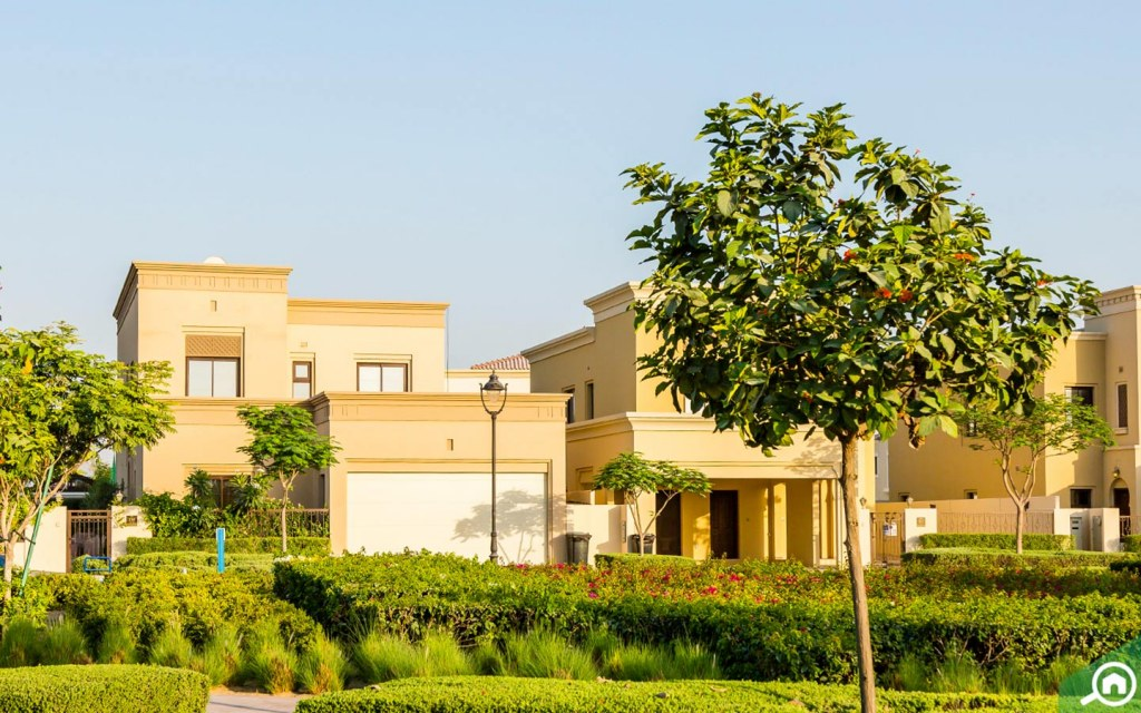 View of a family villa in Arabian Ranches