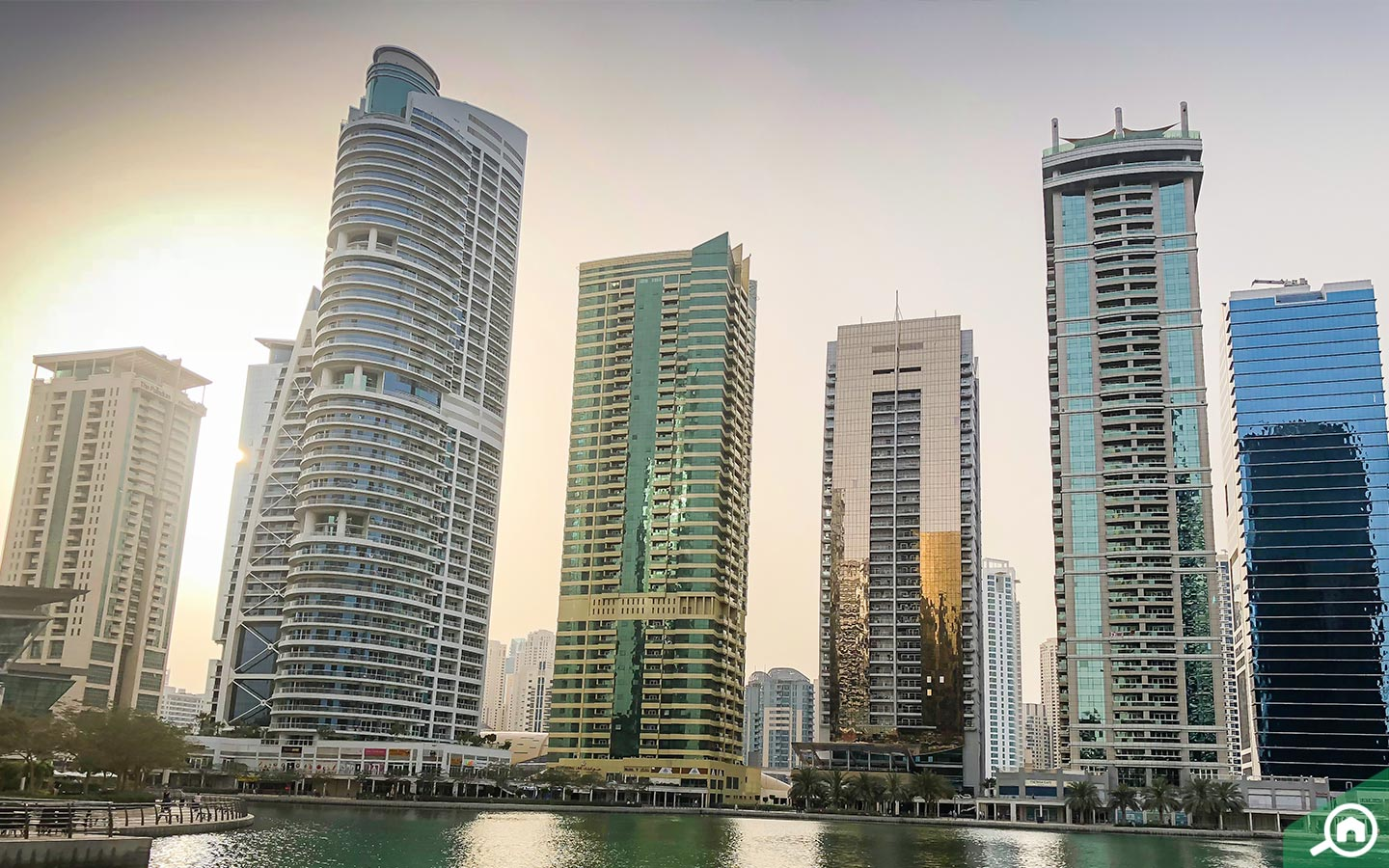JLT flats with waterfront views