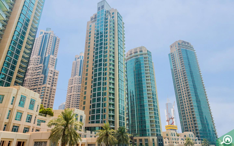 buildings in downtown dubai