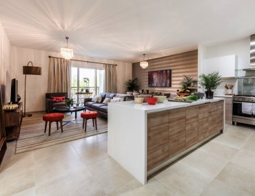 Sitting area of 2-bed apartment for sale in Jumeirah Golf Estates
