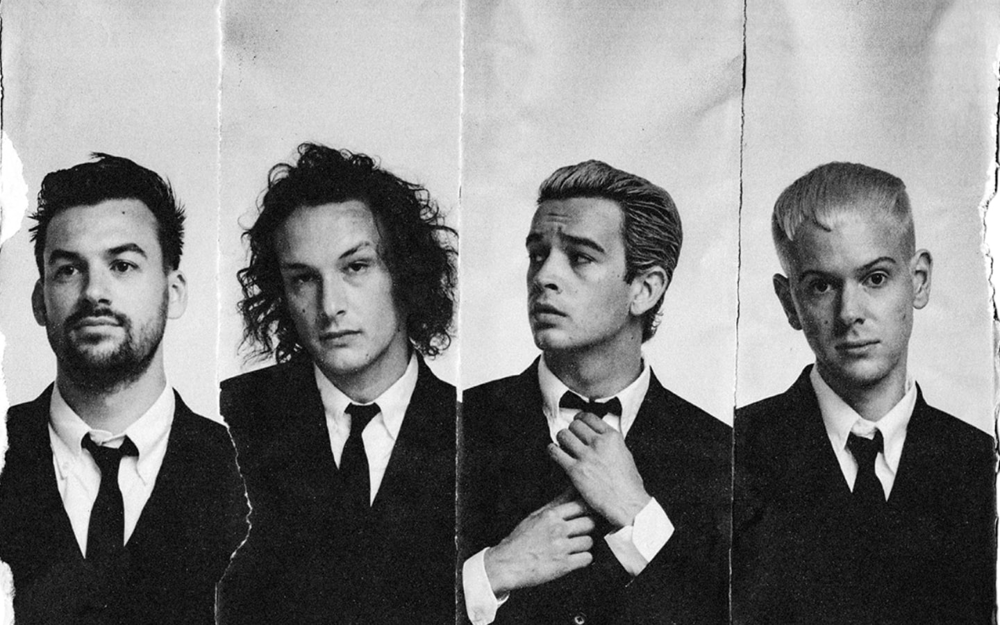Poster showing the 1975 band members
