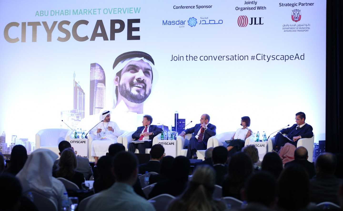 Experts in a panel discussion during Cityscape Abu Dhabi 2016
