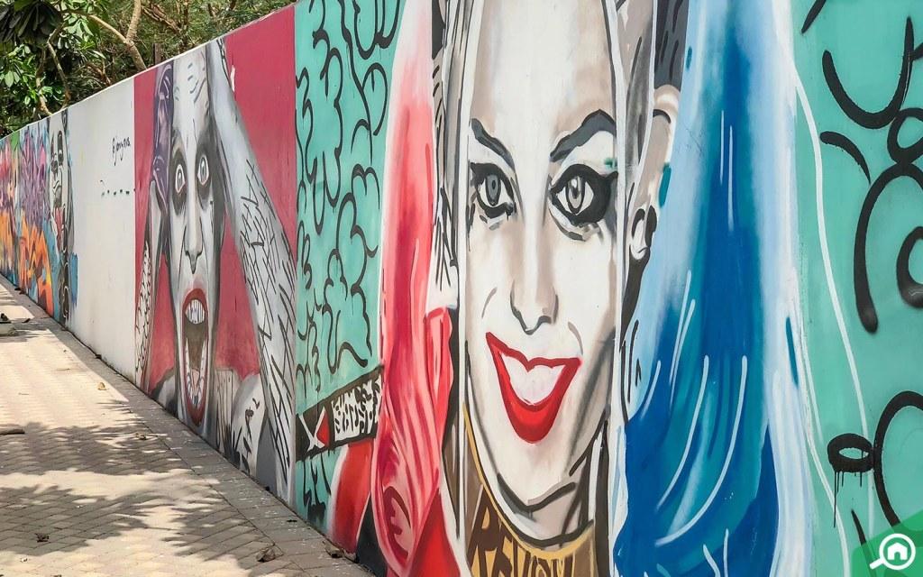 Urban graffiti - Bay Avenue park is a popular hangout for older children.