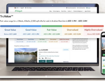 Desktop and mobile displaying TruValue, new price valuation for properties