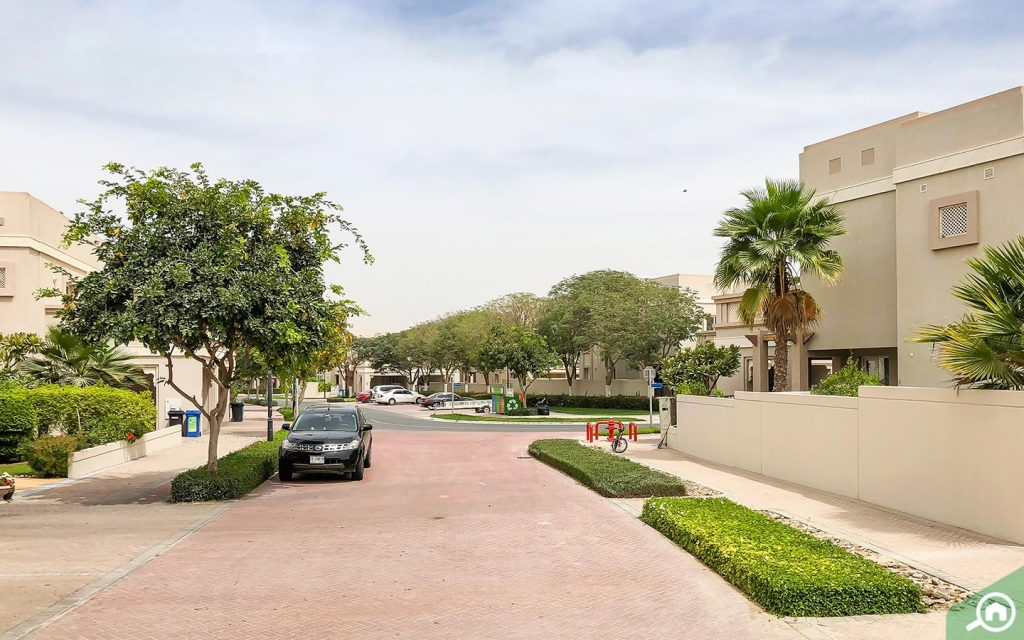 View of the street and community in Arabian Ranches
