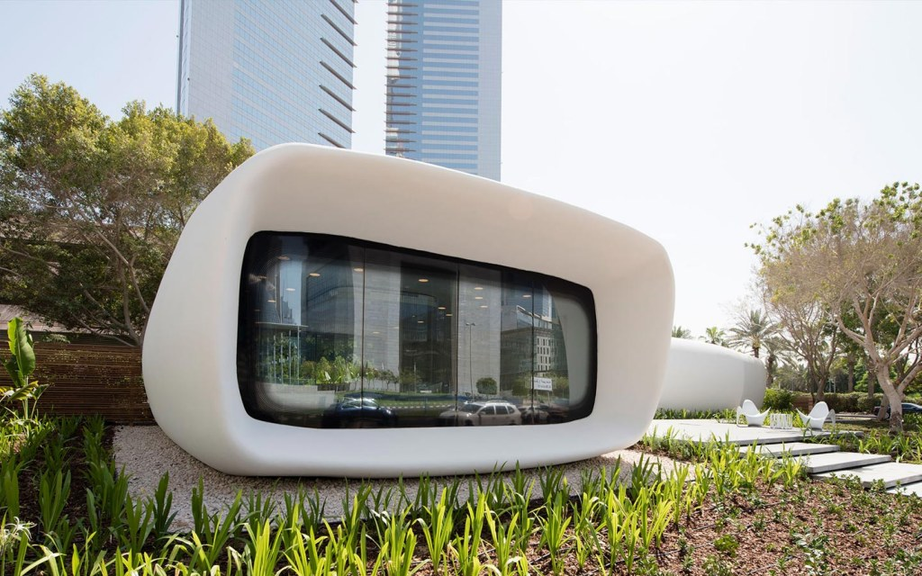 This 3D printed office is an exciting new project in Dubai