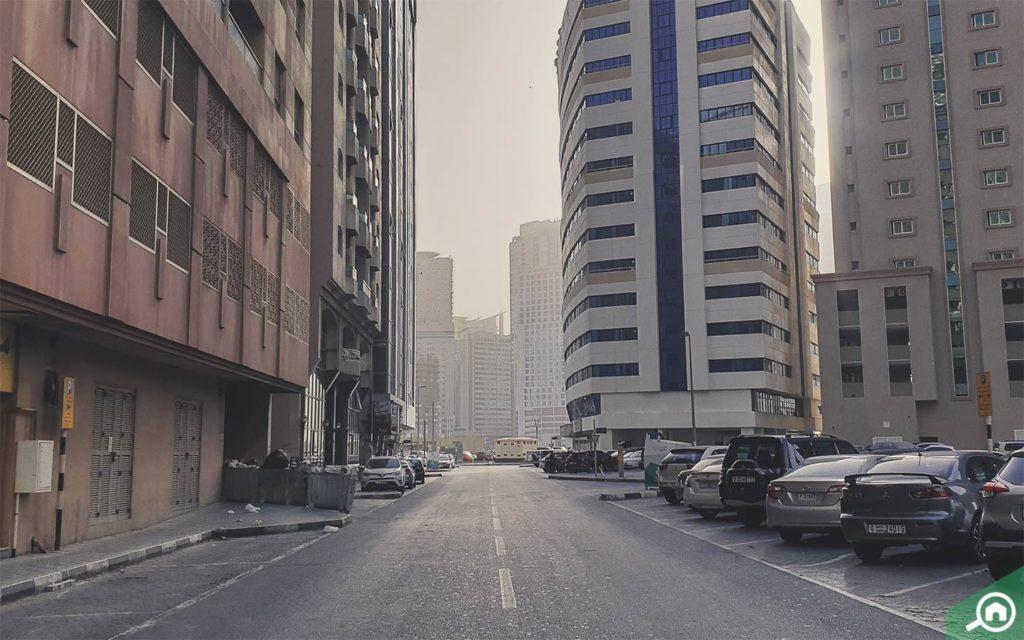 apartment buildings in al majaz