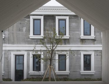 Outside view of a 3D Printed house