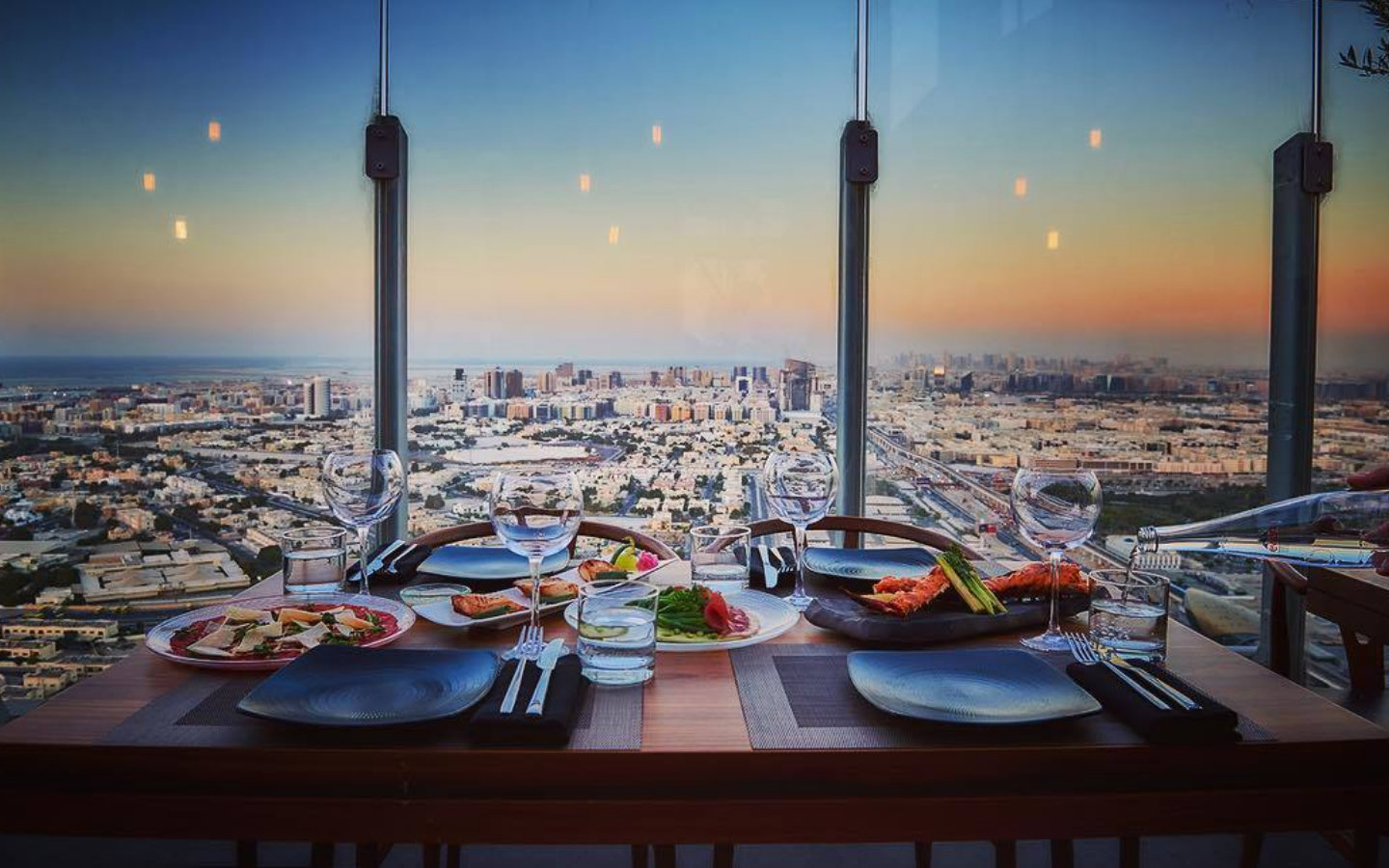 View from 40 Kong Restaurant in Dubai