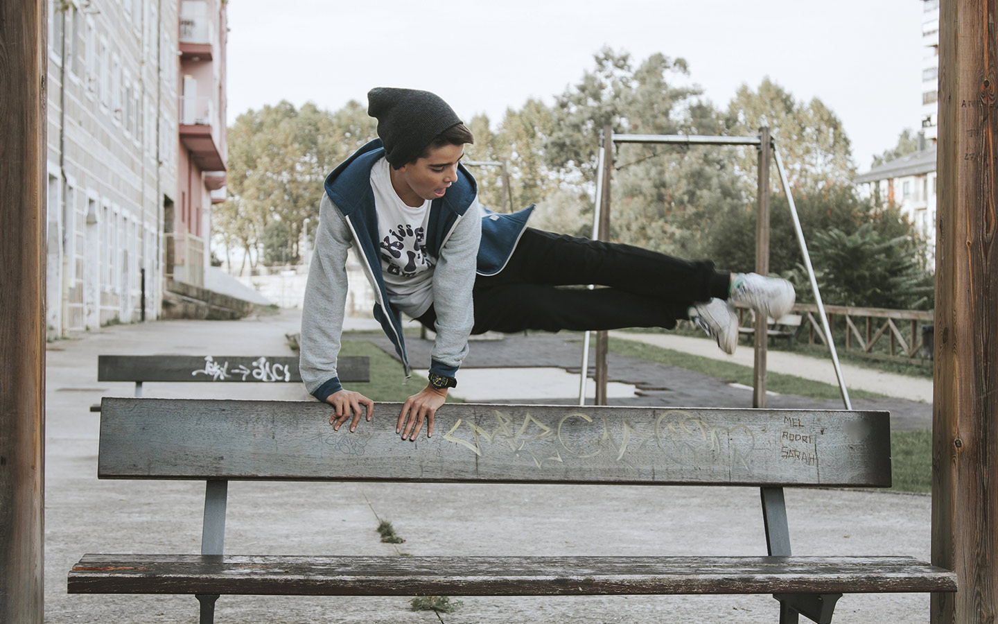 Parkour is another way to keep fit in Dubai