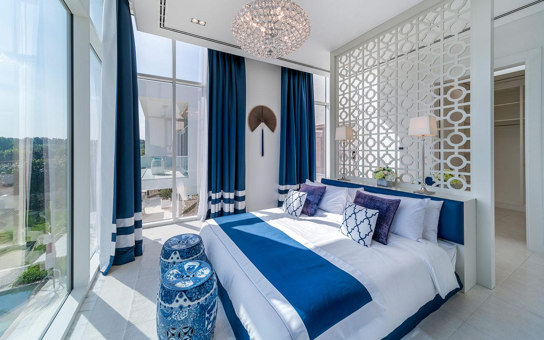 Luxurious bedroom of a flat in Al Barari