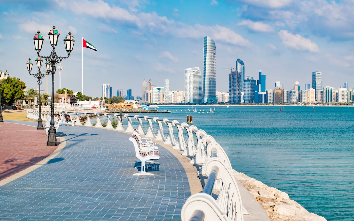 Visiting the Corniche is free things to do in Abu Dhabi today.