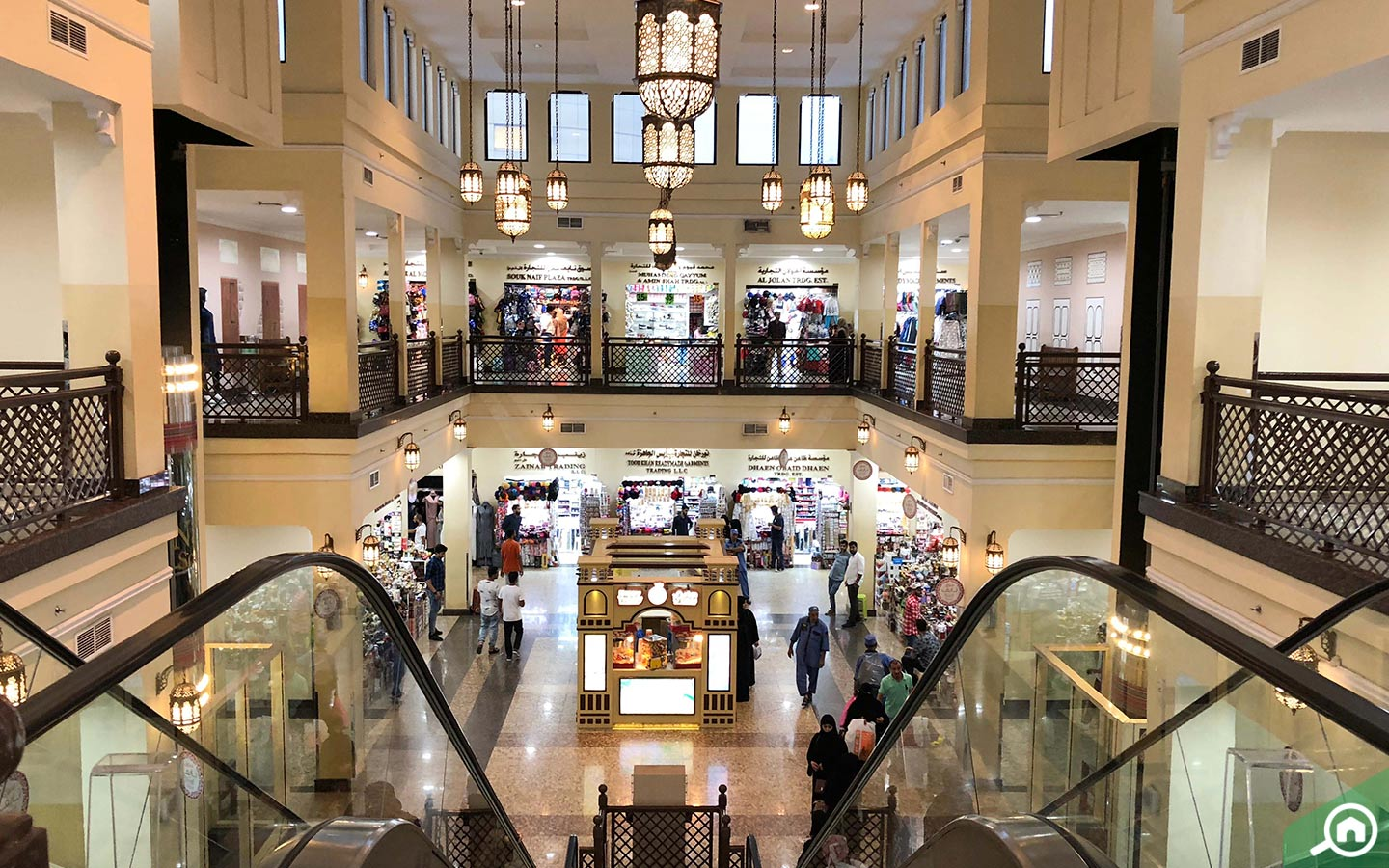 Interior of Naif Souk in Dubai