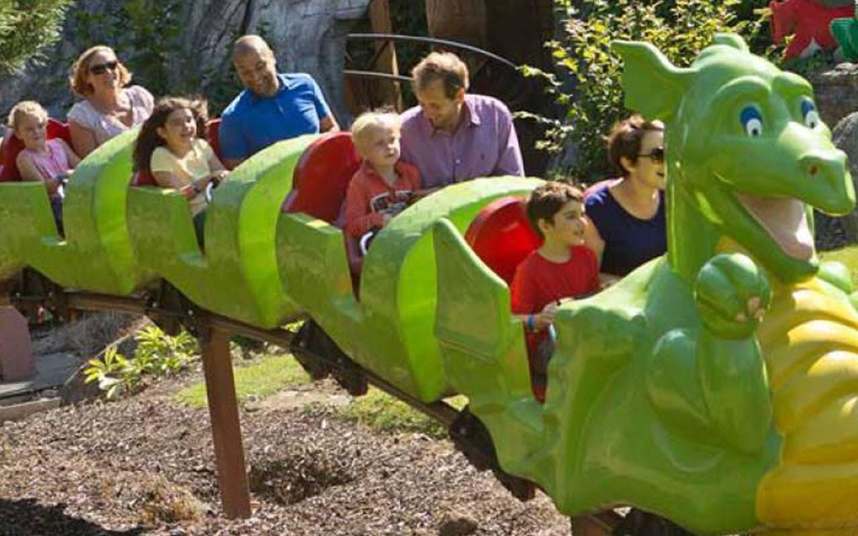 Children are taking a ride of Dragon's Apprentice
