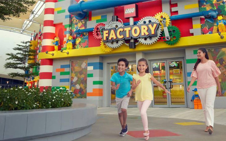 Children enjoying at Lego Factory