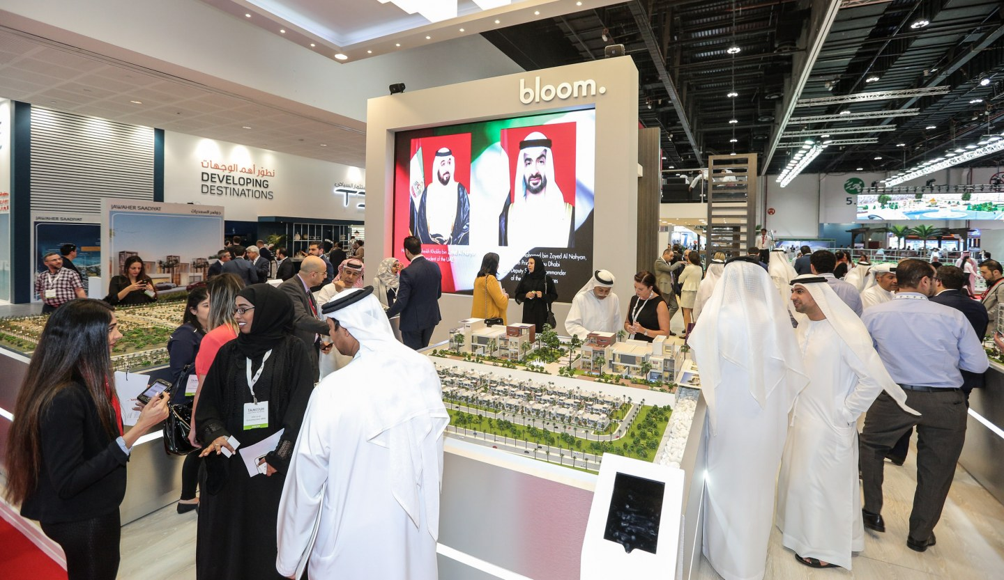 Exhibitors and visitors at the Cityscape Abu Dhabi 2016
