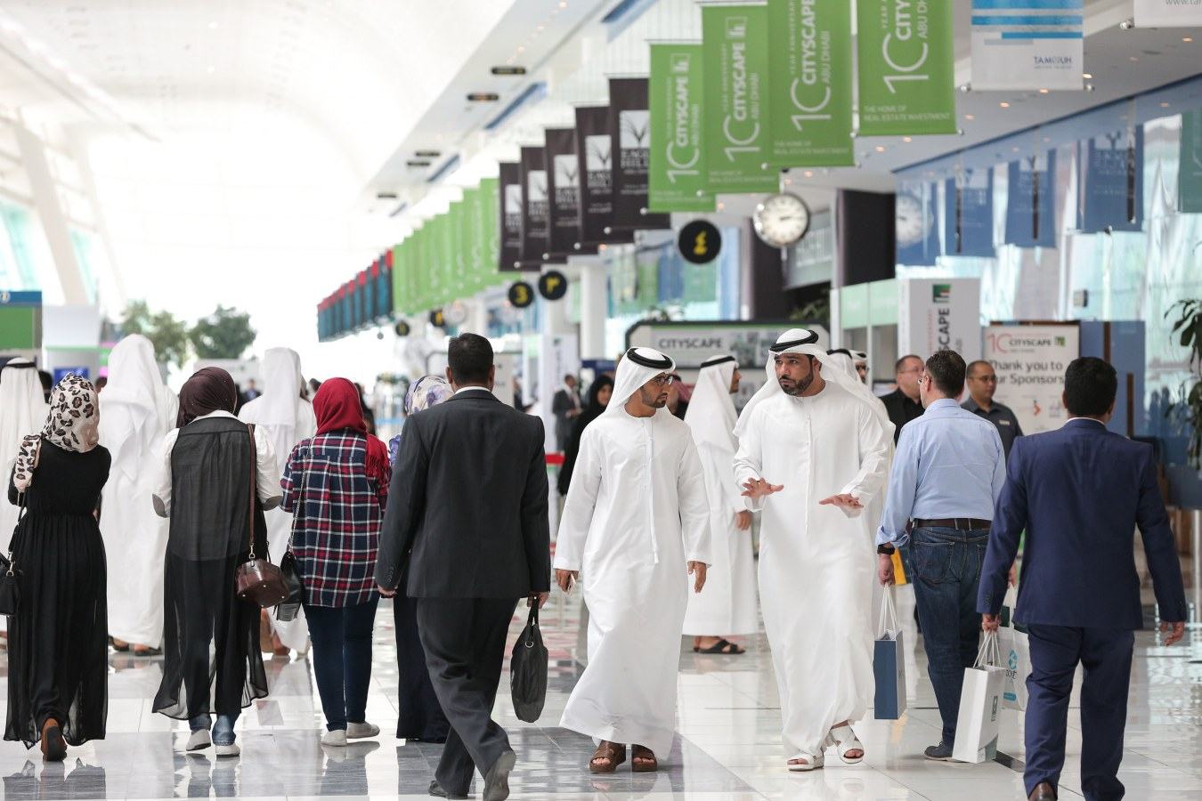 Visitors at Cityscape Abu Dhabi 2016
