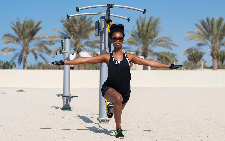 An outdoor gym in Dubai