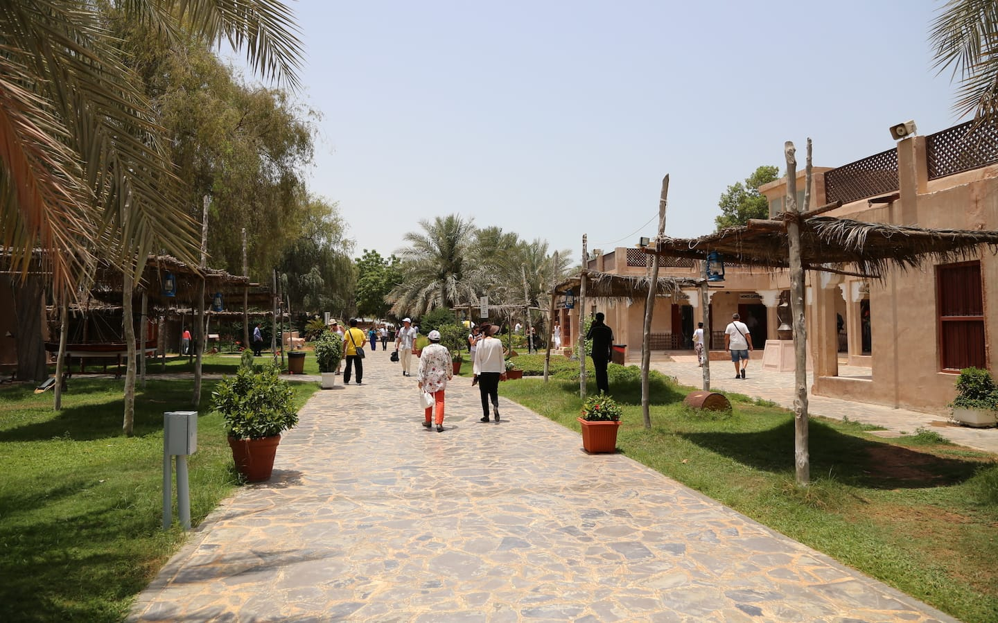 Visiting Heritage Village is one of the best free things to do in Abu Dhabi.