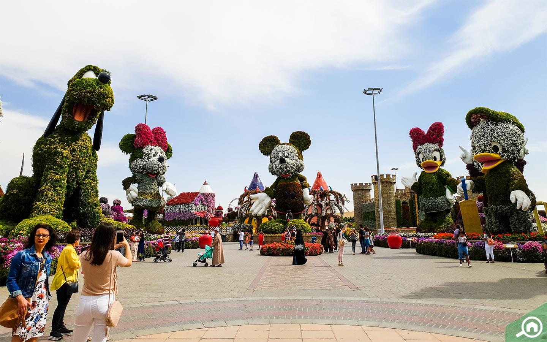 Giant Mickey Mouse at Dubai Miracle Garden