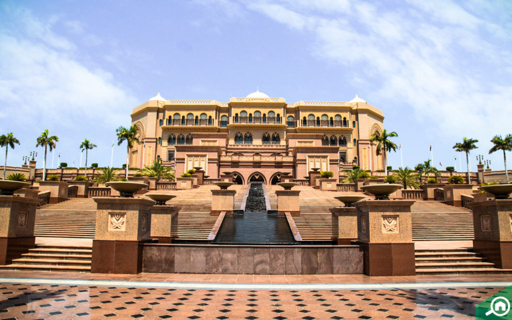 Emirates Palace Hotel main facade the hotel offers one of the best summer daycation package in Abu Dhabi