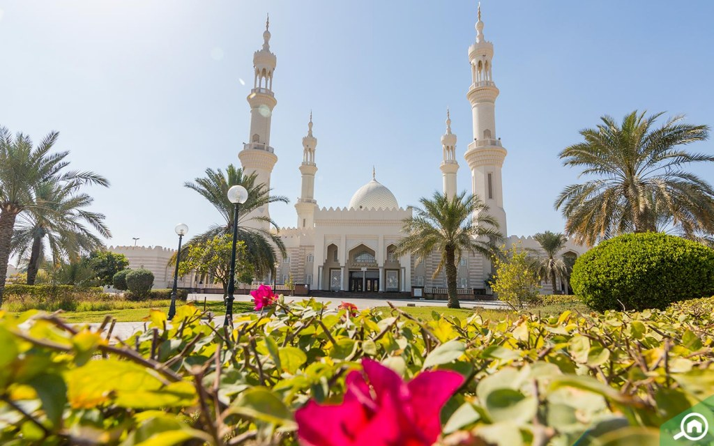 Sheikh Zayed Mosque is one of Ajman's many beautiful buildings.