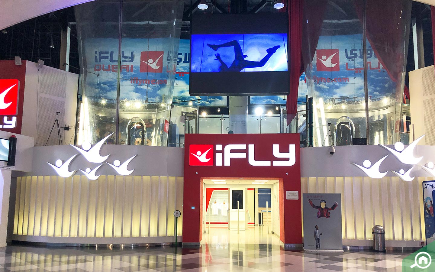 You can enjoy the thrill of skydiving at City Centre Mirdif.