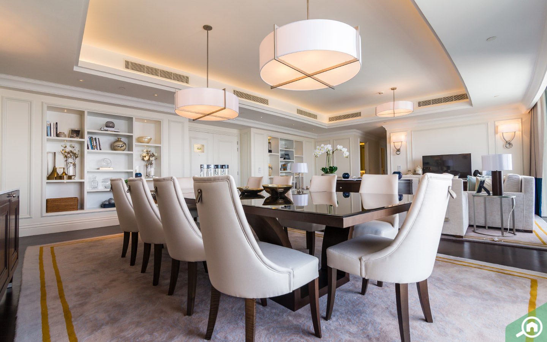 Dining room downtown Dubai penthouse