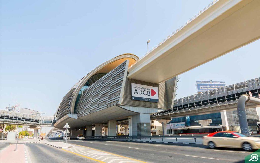 ADCB Metro station in Karama