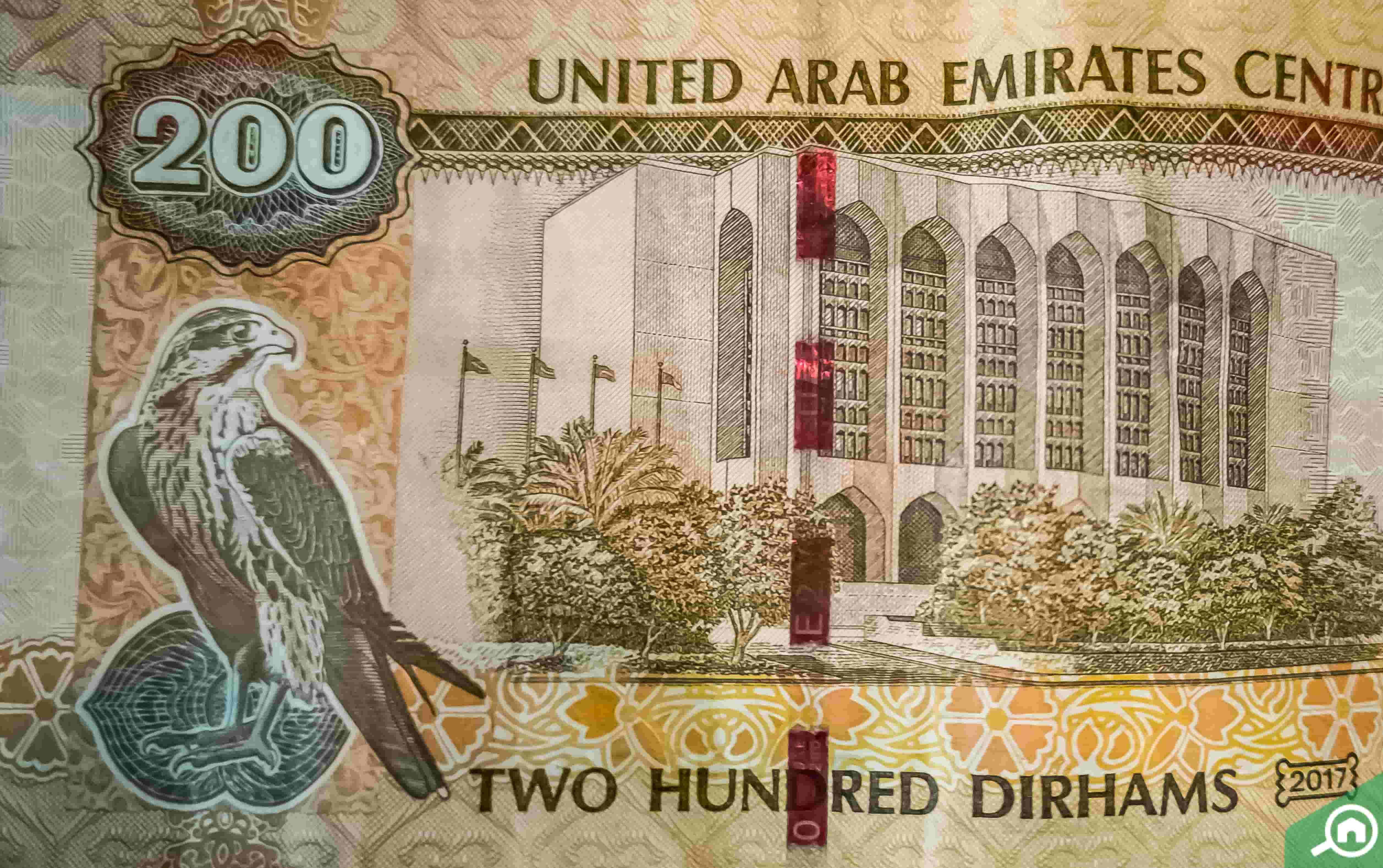 AED 200 note reverse