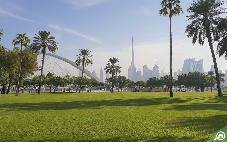 View of Burj Khalifa from AL Safa Park - Best Parks in Dubai