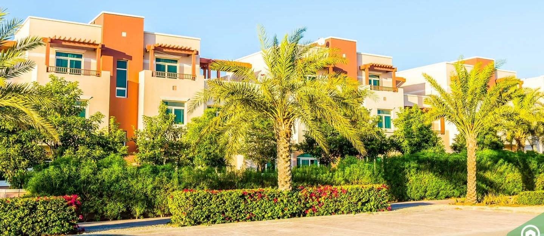 View of Al Ghadeer villas, one of the ALDAR off-plan projects