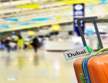 Tourist bag with Dubai tag