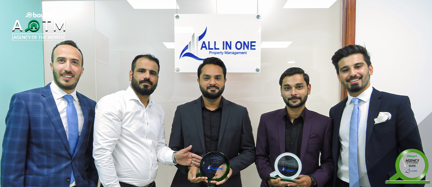 All in One Property receives Agency of the Month award for Abu Dhabi