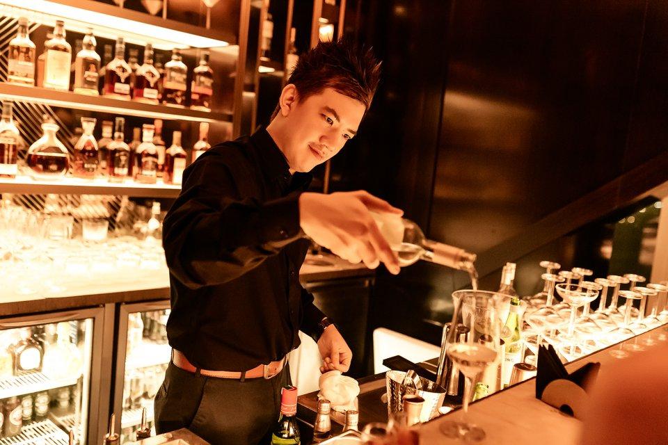 Bartender at Above 21 bar